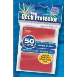 Ultra-Pro hoesjes voor kaarten rood - 50 stuks