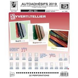 Yvert & Tellier Jeu SC France Autoadhesifs 2019 2eme semestre