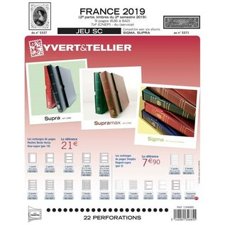 Yvert & Tellier Jeu SC France 2019 2eme semestre