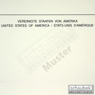 Schaubek blank pages with heading - set of 10