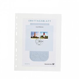Leuchtturm plastic pockets Optima Easy 1 C - set of 50