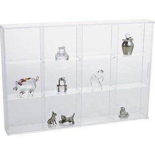 Safe Transparante Vitrinekast 30x20x4,2cm - 12 vakjes