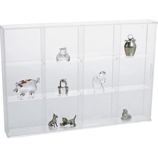 Safe Transparent Display Cabinet 30x20x4.2cm - 12 compartments
