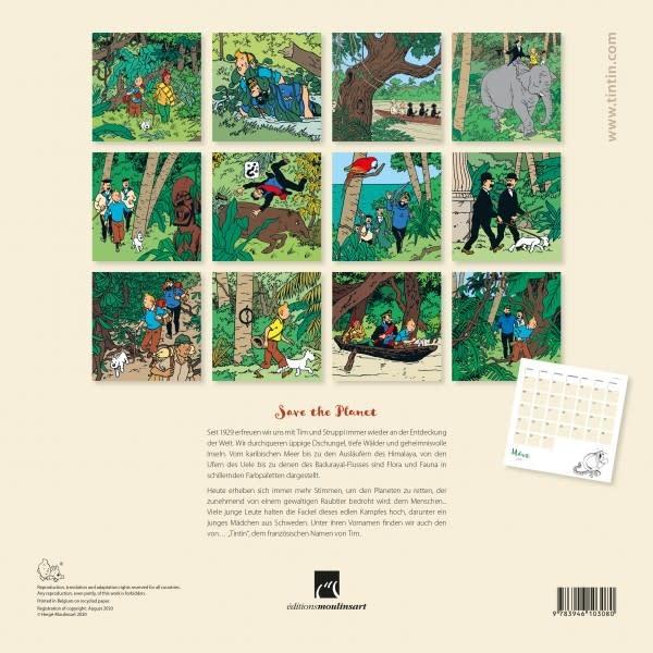 Original Moulinsart Tim und Struppi Kalender 2021 Tintin Calendars 2021