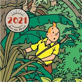 moulinsart Kuifje kalender 2021 uitvouwbaar