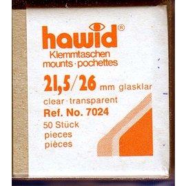 Hawid klemstroken 21,5 x 26 mm glashelder - 50 stuks