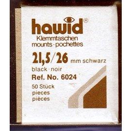 Hawid klemstroken 21,5 x 26 mm zwart - 50 stuks