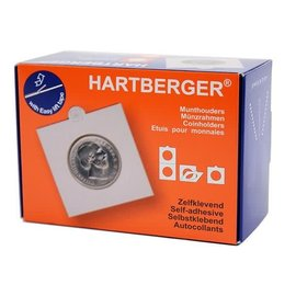 Hartberger munthouders zelfklevend 15 mm - 100 stuks