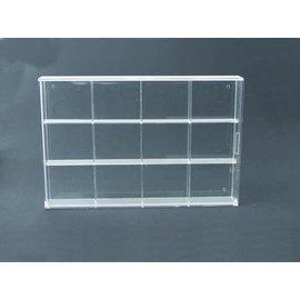 Display cabinet Transparent 35x24x4.5 cm - 12 compartments