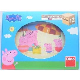 Dino Peppa Big houten blok puzzel
