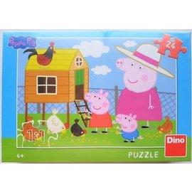 Dino Peppa Big puzzel boerderij