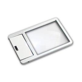 Safe metalen vergrootglas creditcard-formaat