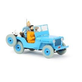 moulinsart Tim und Struppi Auto 1:24 #04 Der blaue Jeep