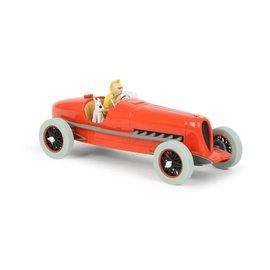 moulinsart Kuifje auto 1:24 #01 De rode racewagen