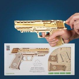 UGears Elastiekjes pistooltje bouwpakket Wolf-01