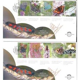 NVPH Nederland FDC 788 a & b Beleef de natuur Vlinders