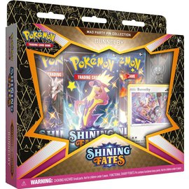 The Pokemon Company Pokémon Shining Fates Mad Party Pin Collection Bunnelby