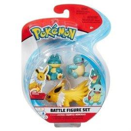 BOTI Pokémon Battle Figure Set - Jolteon + Squirtle + Munchlax