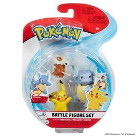 BOTI Pokémon Battle Figure Set - Wartortle + Pikachu + Cubone