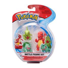 BOTI Pokémon Battle Figure Set - Charmeleon + Bulbasaur + Larvitar
