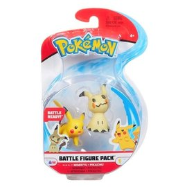 BOTI Pokémon Battle Figure Pack Mimikyu + Pikachu
