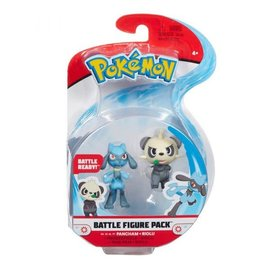 BOTI Pokémon Battle Figure Pack Pancham + Riolu