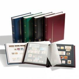 Leuchtturm insteekboek voor postzegels Comfort S 32 zwarte bladzijden