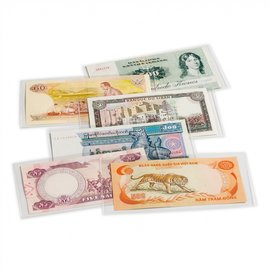 Leuchtturm Basic glasheldere hoezen voor bankbiljetten