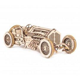 UGears Houten bouwpakket mechanische Grand Prix Auto