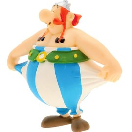 Plastoy Asterix figuur Obelix houdt zijn broek vast