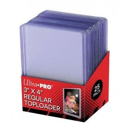Ultra-Pro Cases for Pokemon cards Regular Toploaders 3 x 4 inch - 25 pieces