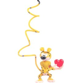 Plastoy Spirou figure Marsupilami with heart