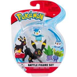 BOTI Pokémon Battle Figure Set - Umbreon + Oddish + Piplup