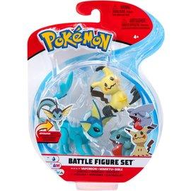 BOTI Pokémon Battle Figure Set - Vaporeon + Mimikyu + Gible
