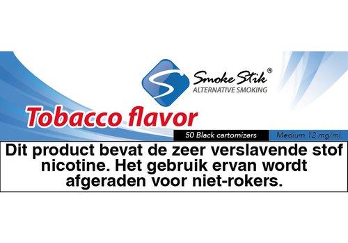 SmokeStik Cartomizer Regular Tabak Zwart 12mg (50)