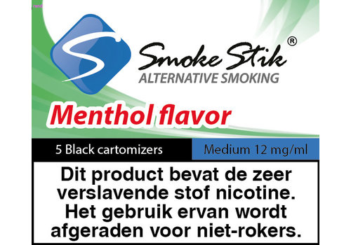 SmokeStik Cartomizer Menthol Zwart 12mg (5)
