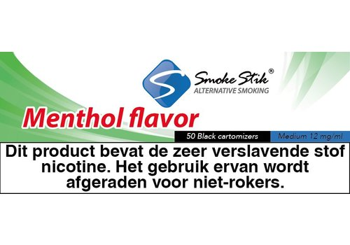 SmokeStik Cartomizer Menthol Zwart 12mg (50)