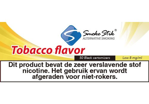 SmokeStik Cartomizer Regular Tabak Zwart 8mg (50)