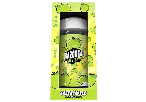 Bazooka! Sour Straws Green Apple (100ml)