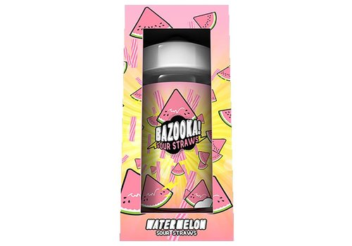 Bazooka! Sour Straws Watermelon (200ml)