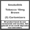 SmokeStik Cartomizer Regular Tabak Bruin 18mg (5)