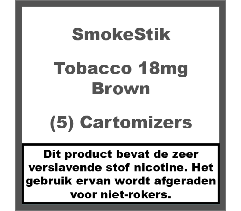 Cartomizer Regular Tabak Bruin 18mg (5)