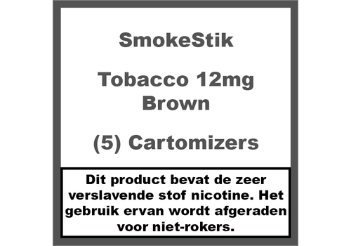 SmokeStik Cartomizer Regular Tabak Bruin 12mg (5)