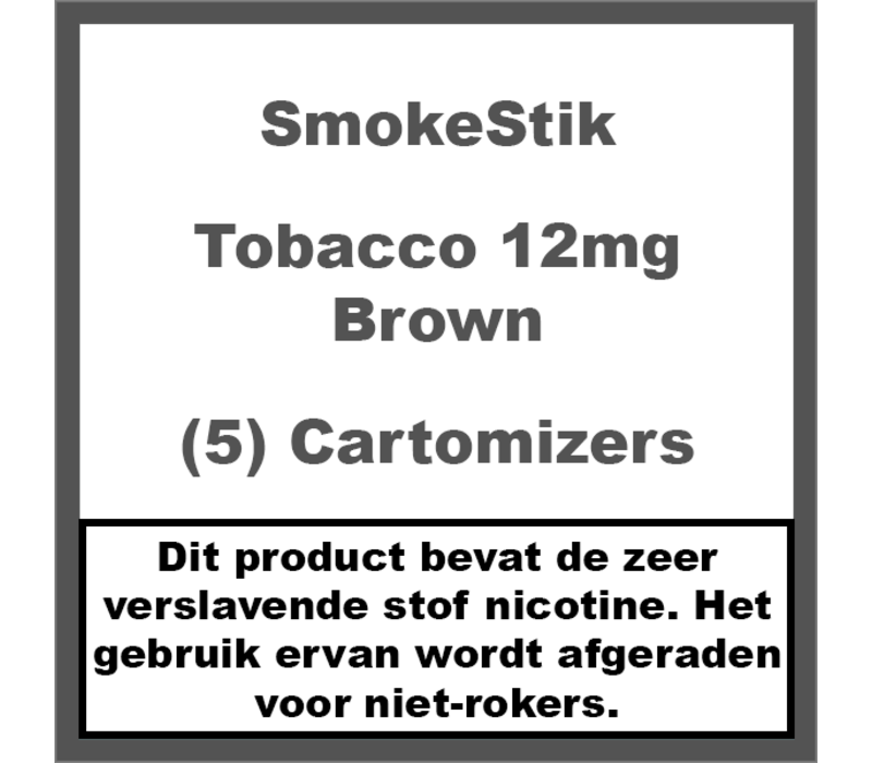 Cartomizer Regular Tabak Bruin 12mg (5)