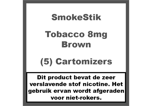 SmokeStik Cartomizer Regular Tabak Bruin 8mg (5)