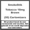 SmokeStik Cartomizer Regular Tabak Bruin 18mg (50)