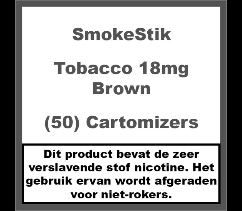 Cartomizer Regular Tabak Bruin 18mg (50)