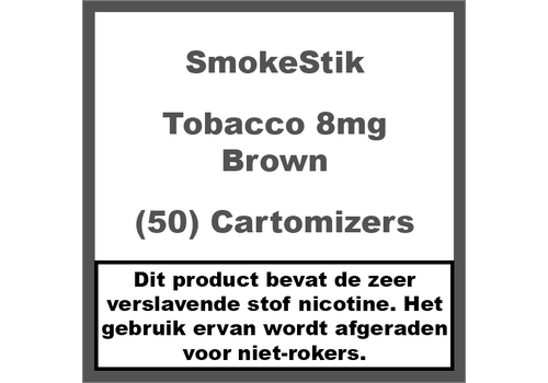 SmokeStik Cartomizer Regular Tabak Bruin 8mg (50)
