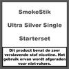 SmokeStik Starterset Ultra Single Silver