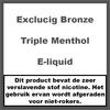 ExcluCig Bronze Label Triple Menthol